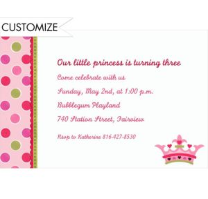 Custom Little Princess Invitations