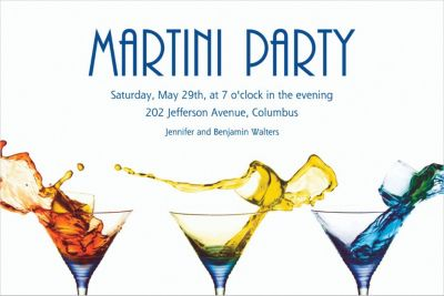 Custom Three Martinis Invitations