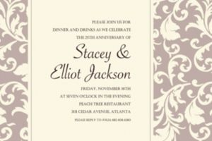 Custom Damask Stripe Taupe Invitations