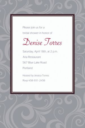 Custom Floating Border Gray Invitations