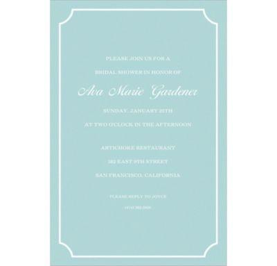Formal Corners Teal Custom Invitation
