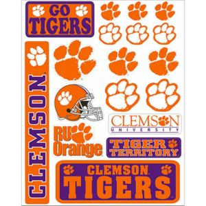 Clemson Tigers Decals 18ct