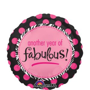 Happy Birthday Balloon - Another Year of Fabulous
