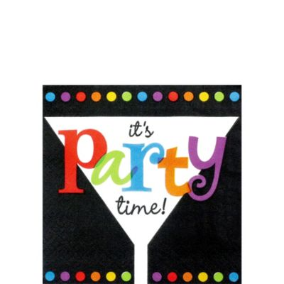 It's Party Time Beverage Napkins 16ct