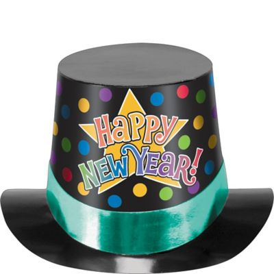 Colorful New Year's Top Hat