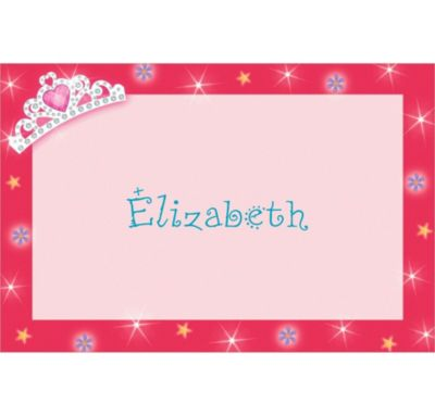 Custom Princess 1st Birthday Thank You Notes