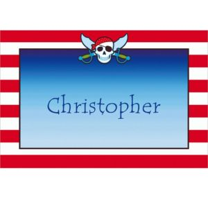 Custom Pirate Party Stripe Thank You Notes
