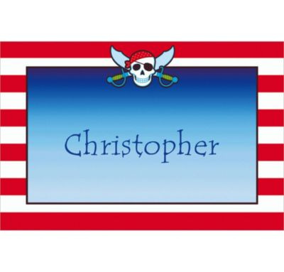 Pirate Party Stripe Custom Thank You Note