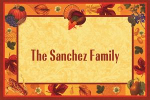 Custom Thanksgiving Scrapbook Thank You Notes