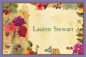 Custom Le Jardin Thank You Notes