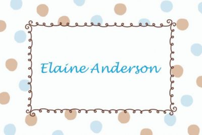 Custom Blue Dots Border Baby Shower Thank You Notes