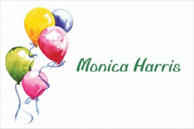 Balloons Custom Thank You Note