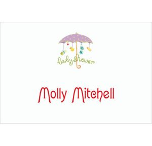 Custom Baby Shower Umbrella Baby Shower Thank You Notes