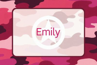 Custom Pink Camouflage Thank You Notes