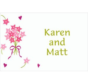 Custom Bouquet & Florets Bridal Shower Thank You Notes