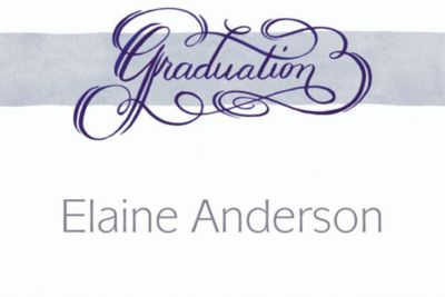 Custom Calligraphic Graduation Thank You Notes