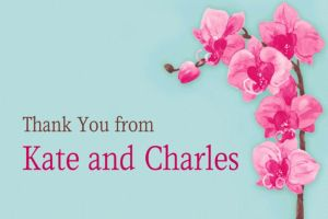 Custom Elegant Orchids Thank You Notes