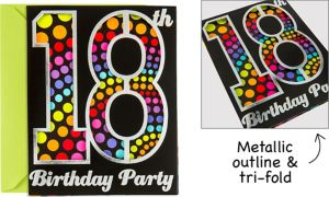 Premium Happy 18th Birthday Invitations 8ct