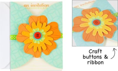 Flower Fun Large Invitations 8ct