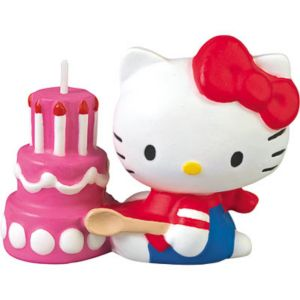 Hello Kitty Birthday Candle 2in