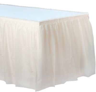 Vanilla Plastic Table Skirt