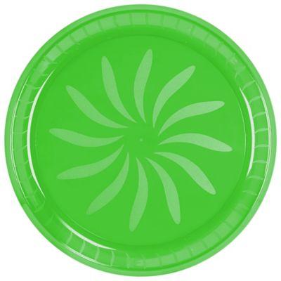 Kiwi Green Plastic Swirl Platter