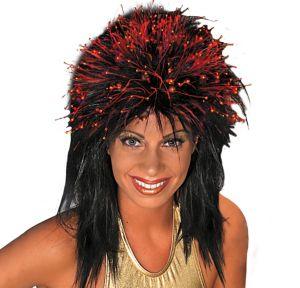 Black Fiber Optic Wig