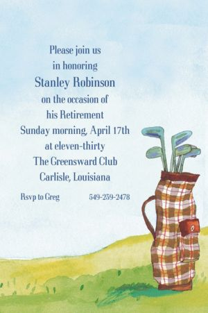 Custom Golf Bag Invitations