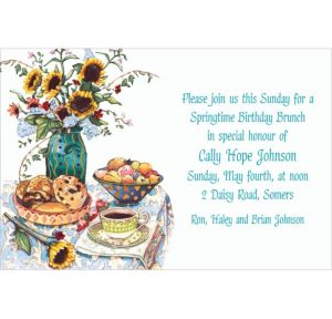 Custom Bagel Brunch Two Invitations
