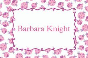 Custom Pink Ladybugs Baby Shower Thank You Notes