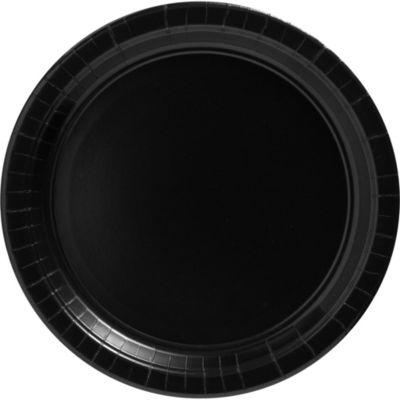 Black Paper Dinner Plates 20ct