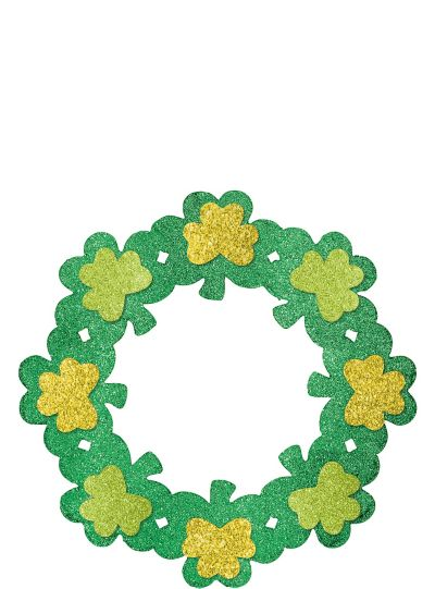 Glitter Shamrock Wreath