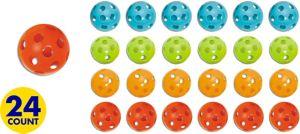 Colorful Plastic Balls 24ct