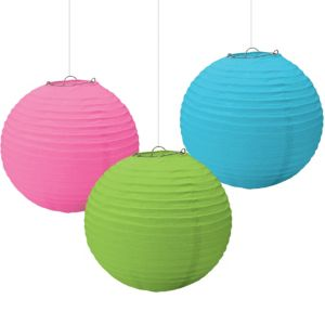 Multicolor Paper Lanterns 3ct