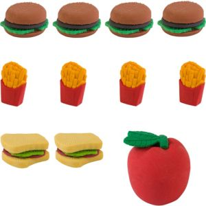 Fast Food Erasers 48ct