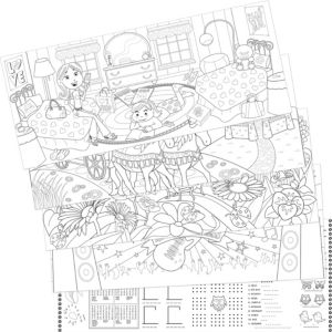 Fantasy Coloring Sheets 5ct