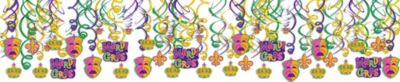 Mardi Gras Swirl Decorations 30ct