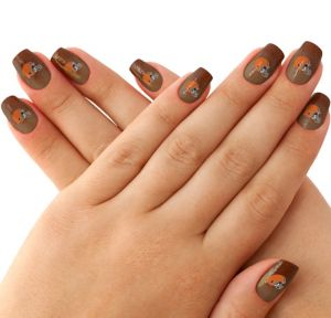 Cleveland Browns Nail Tattoos 20ct
