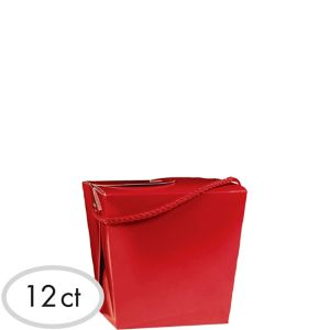Red Favor Boxes 12ct