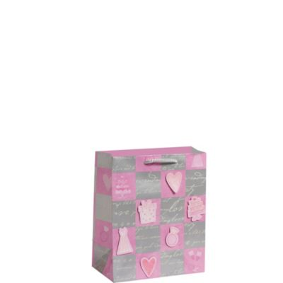 3D Wedded Bliss Pink Gift Bag