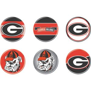Georgia Bulldogs Buttons 6ct