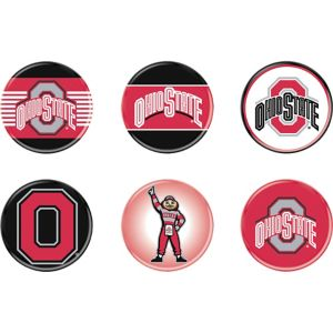 Ohio State Buckeyes Buttons 6ct