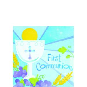 Boy's 1st Communion Beverage Napkins 36t
