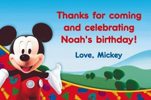 Custom Mickey Mouse Clubhouse Thank You Notes