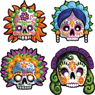 Day of the Dead Masks 4ct