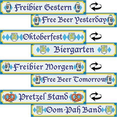 Oktoberfest Sign Cutouts 4ct