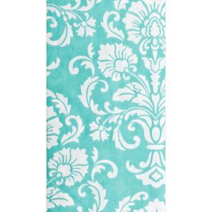 Robin's Egg Blue Damask Guest Towels 16ct