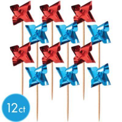 Patriotic Pinwheel Picks 12ct
