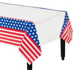 Red, White & Blue Patriotic Table Cover