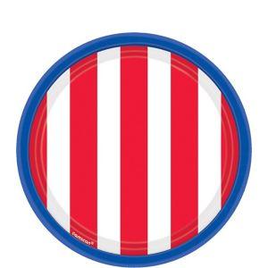 Red, White & Blue Patriotic Dessert Plates 18ct